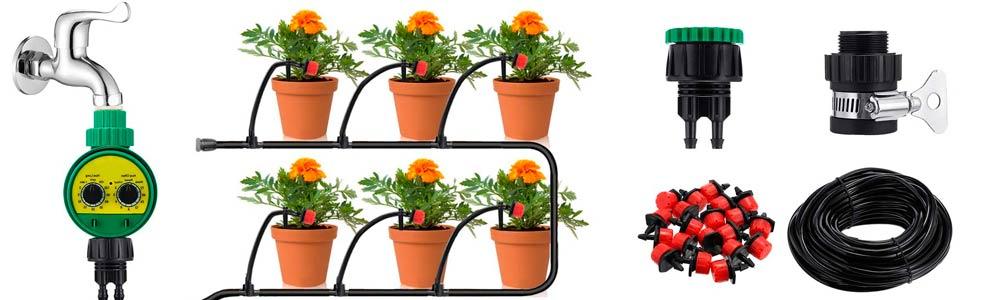 riego automatico de plantas y macetas